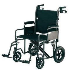Probasic - Heavy Duty 22 inch Transport Wheelchair, 450 lb c
