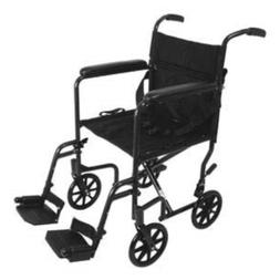 Super Lightweight Folding Aluminum Transport Wheel Chair Bla