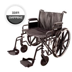 ProBasics K7 Heavy-Duty Wheelchair with 22 x 18 Vinyl Uphols