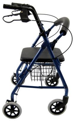 Karman Healthcare R-4100-BL Aluminum Rollator with Low Seat,