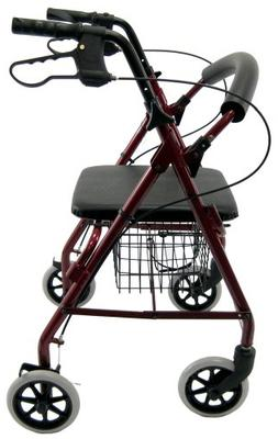 Karman Healthcare R-4100-BD Aluminum Rollator with Low Seat,
