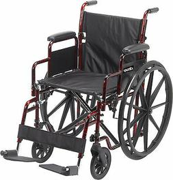 "Drive Medical Rebel Lightweight Wheelchair, Red 18"" x 16"""