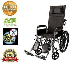 Recliner Back 18 Wheelchair Full Arm Detachable W/elevating