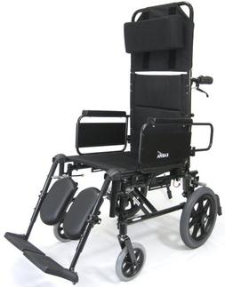 Karman Recliner Wheelchair with Transport Wheels in 16 inch
