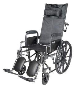McKesson Reclining Wheelchair and Detachable Desk Arms - 18-