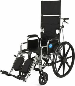 Medline Reclining Wheelchairs Wide Seat Desk Length Arms Ele