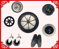 Replacement Accessories Walker & Wheelchair Wheels 2 PCS