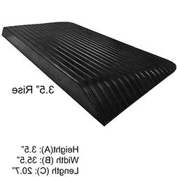 """3.5"""" Rise Rubber Power Wheelchair Scooter Threshold Ramp"""