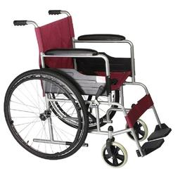 Yuwell Self Propelled Extra-Wide Wheelchair with Soft PU Arm