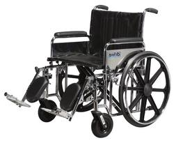 Sentra Extra Heavy Duty Wheelchair - Removable Full Arms, 24