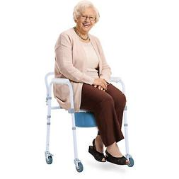 Shower Bariatric Rolling Toilet Chair w/ Removeable Bucket &