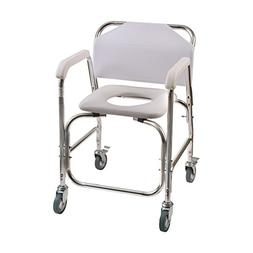 DMI Shower Transport Chair, Commode Chair for Toilet, Shower