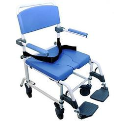 "Shower Transport Chair Bath Toilet Commode Bariatric 20"" Wid"