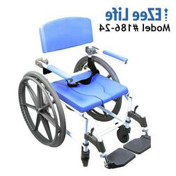 "Shower Wheelchair Bath Toilet Commode Bariatric 22"" X-Wide S"