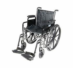 Silver Sport 2 Wheelchair with Detachable Desk Arms and Swin
