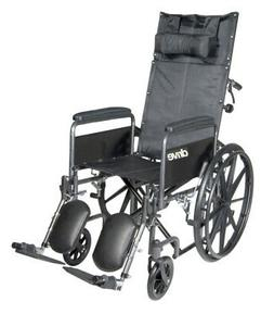 Drive Medical SSP18RBDFA Silver Sport Reclining Wheelchair w