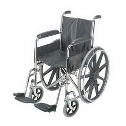 """Standard Wheelchair With Fixed Arms, 18"""" Wide"""