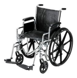 Steel Wheelchair with Detachable Desk Arms and Swing Away Fo