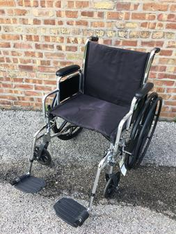 Nova Steel Wheelchair Fixed Arm and Swing Away Footrests 18
