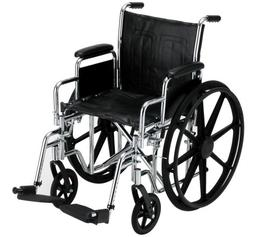 "NOVA Medical Products 16"" Steel Wheelchair w/Detachable Desk"