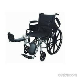 """Stylish Ultralight 18"""" Seat Adult Wheelchair - Anti-Tippers"""