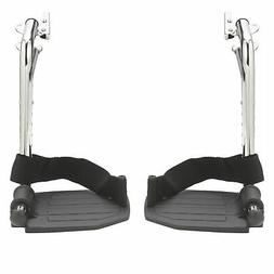 Drive Medical Swing Away Footrests with Aluminum Footplates,