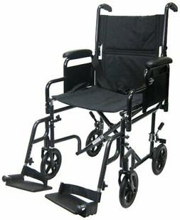 Karman Lightweight Transport Wheelchair with Removable Armre