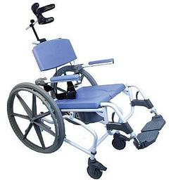 Tilt Shower Rehab Commode Bath Toilet Transport Chair with 2