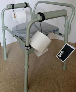 TOILET PAPER HOLDER HANDMADE USA FOR BEDSIDE COMMODES WHEELC