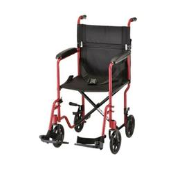 Nova Transport Chair Lightweight with Swing Away Footrests,