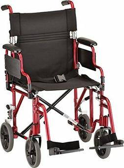 Nova Transport Chair Lightweight with Detachable Footrests,
