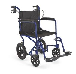 Medline Transport Chair Wheelchair Light Weight Aluminum w/