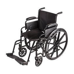 DMI Transport Chair Travel Wheelchair with Solid Steel Const