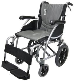 Karman Transport Wheelchair with Companion Brakes, 16 inch S