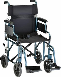 "NOVA Medical Products 19"" Transport/Wheelchair with Detachab"