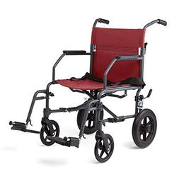 Medline Transport Wheelchair with Lightweight Steel Frame, M