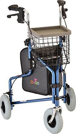 Nova Medical Products Traveler 3-wheel Walker, Blue