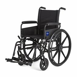 Medline Premium Ultra-lightweight Wheelchair with Full-Lengt