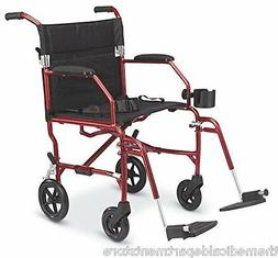 Medline Ultralight Lightweight Transport Chair Wheelchair Re
