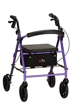 NOVA Vibe 8 Rollator Walker, Purple