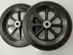 """Wheel Replacement For Wheelchairs, 8""""by 7/8"""" non marring Bla"""