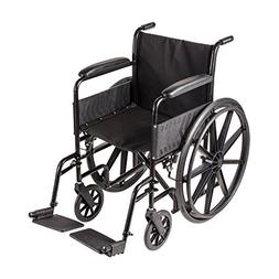 """Duro-Med Wheelchair 18"""" With Mag Wheels - Fixed Armrest Swin"""