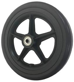 """RIANT WHEEL,Wheelchair Caster Wheels, 7""""X 1.4"""", Solid, with"""