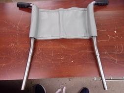 wheelchair handles with back support gray