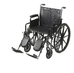Wheelchair McKesson, Padded, Removable Arm Style, 20 Inch se