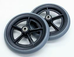"""Wheelchair Parts 8"""" Front Casters 5/16"""" Fit E&J Style Grey T"""