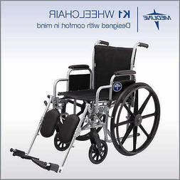 Wheelchair Self Propelled Capacity 300 lbs Medline Excel  K1