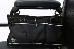 Pembrook Wheelchair Side Bag - Black - Great Accessory for y