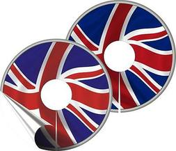 WHEELCHAIR SPOKE GUARD STICKERS UNION JACK Design Mobility A