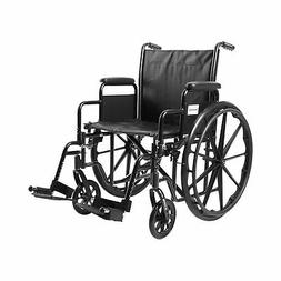"McKesson Wheelchair Steel 20""W x 16""D Swing-Away Footrest 14"